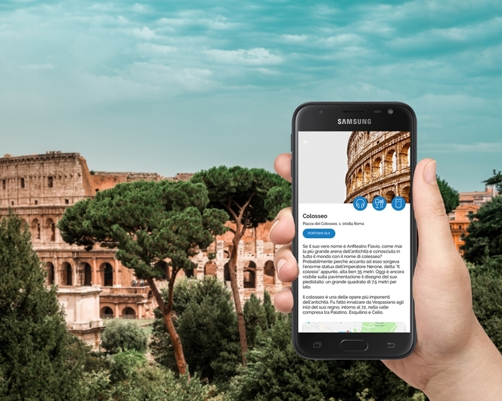 Colosseum tourist guide on Manet Device