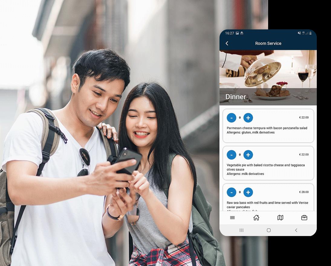 Prenotazione di servizi aggiuntivi con l'app Manet