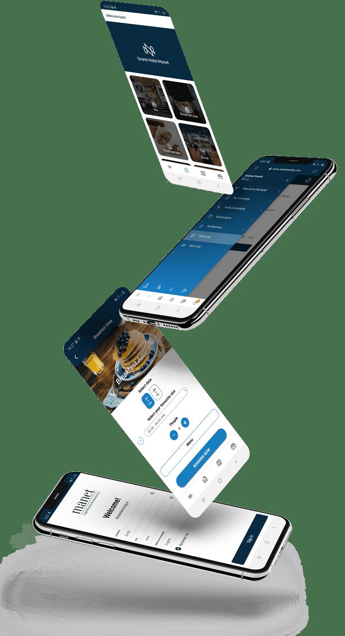Manet app su dispositivi differenti