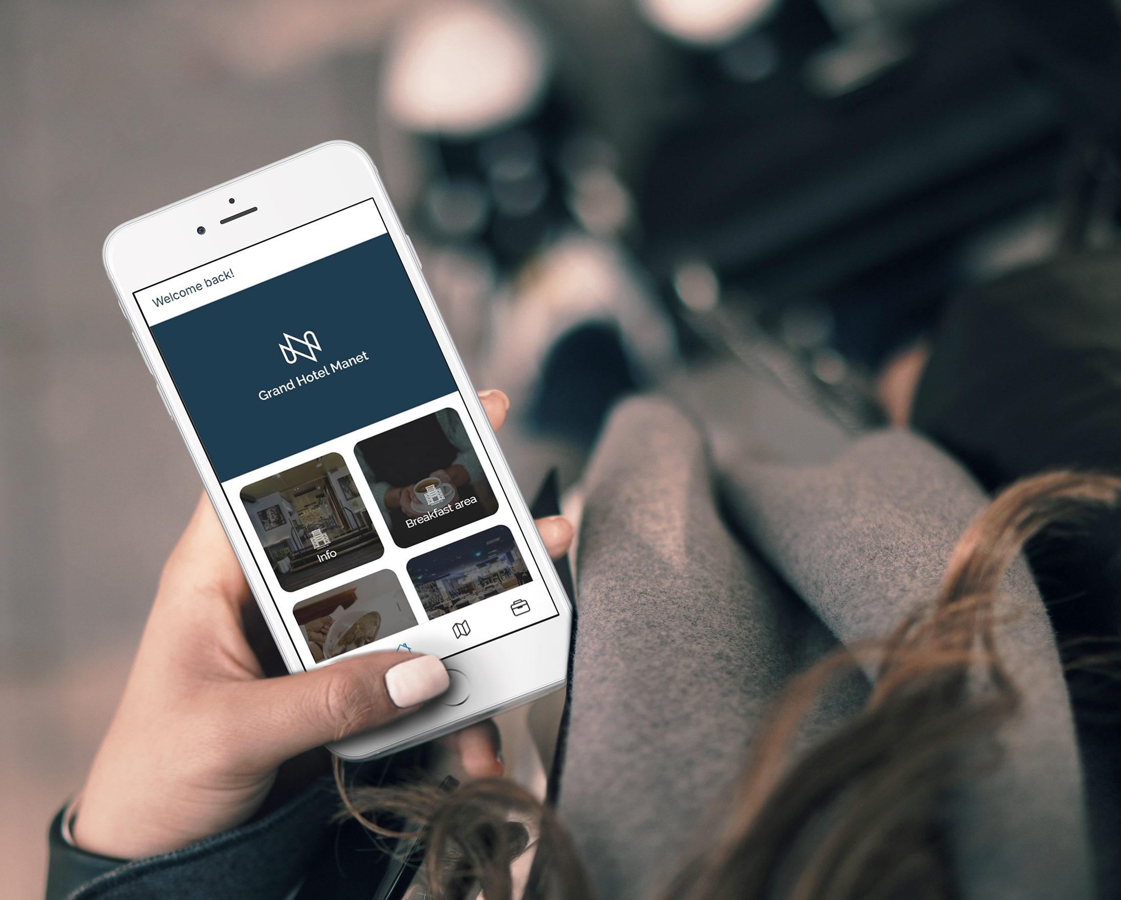 Informazioni sulla tua attività e prenotazione di servizi extra con l'app Manet