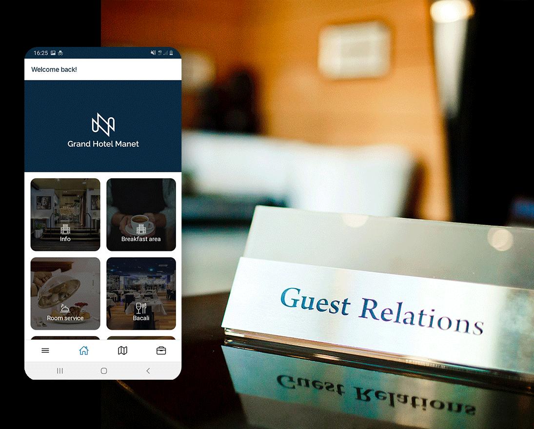 Manet Mobile Solutions permette di essere sempre in contatto con il Concierge