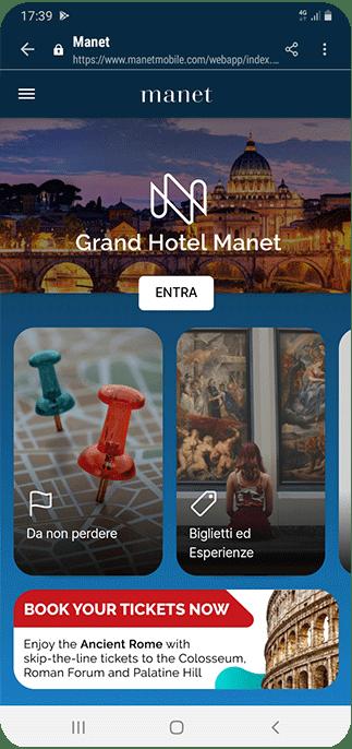 Manet App Homepage