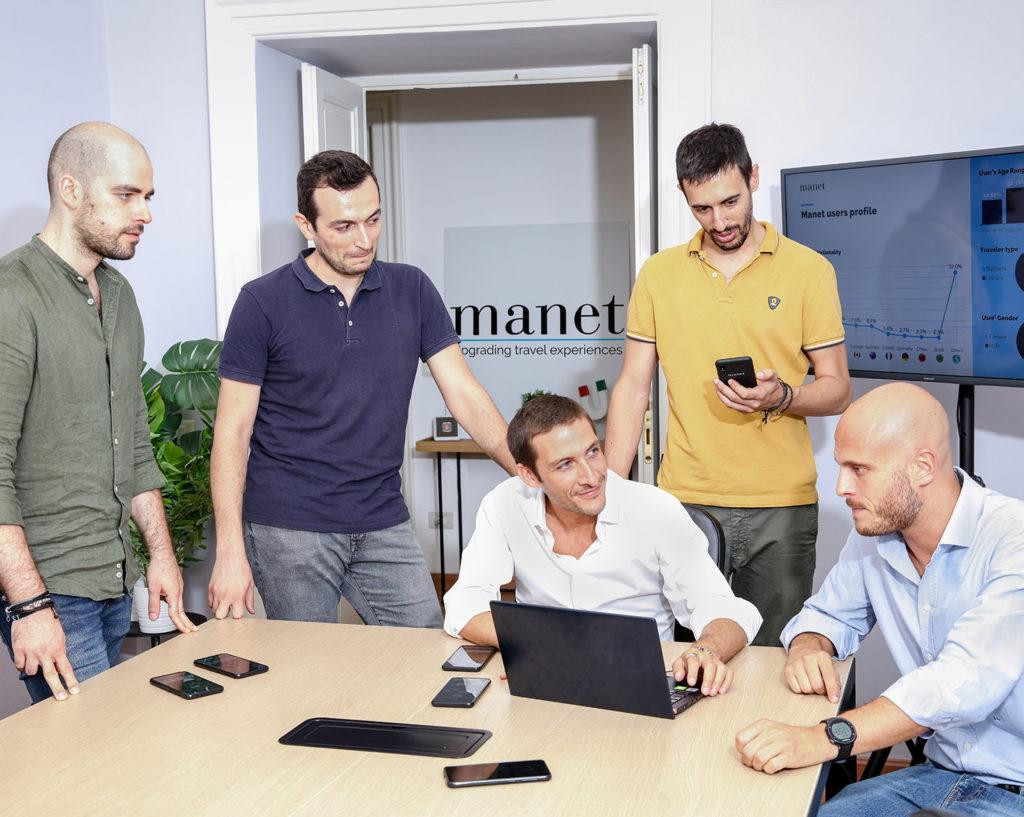 Il team di Manet Mobile a lavoro